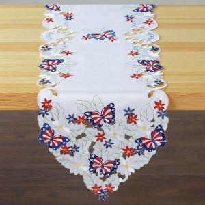 Patriotic Butterflies Table Runner