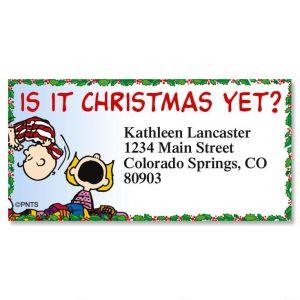 PEANUTS® Christmas Capers Border Address Labels  (8 Designs)
