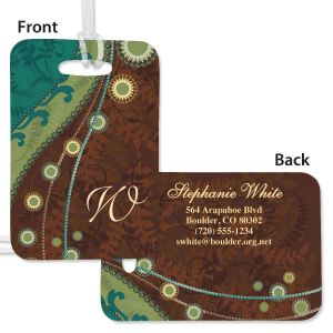 Pearls Personalized Bag Tag
