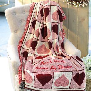 Personalized Valentine Throw