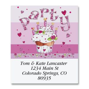 Pink Party Select Address Labels