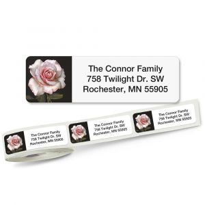 Pretty in Pink Rolled Return Address Labels