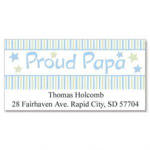 Proud Papa Deluxe Address Labels
