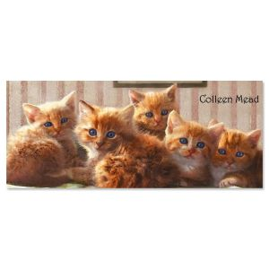 Purrfectly Feline Slimline Personalized Note Cards