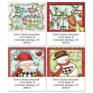 Reindeer Dress-Up Select Address Labels  (4 Designs)