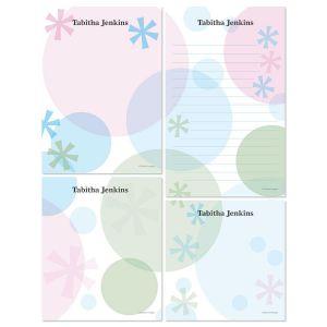 Retro Patterns Memo Pad Set
