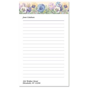 Sandi's Pansies Notepad