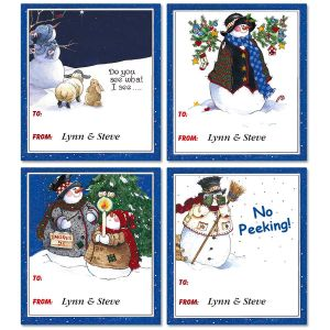 Sandi's Snow Pals Personalized  To/From Labels  (4 Designs)