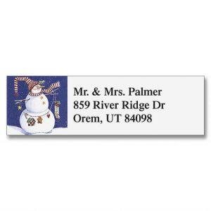 Sandi's Snowmen Collection  Classic Address Labels  (6 designs)