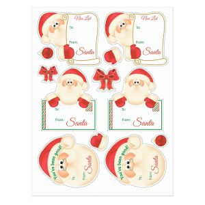 Santa To/From Stickers - Buy 1 Get 1 FREE