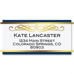 Sapphire Foil Border Address Labels