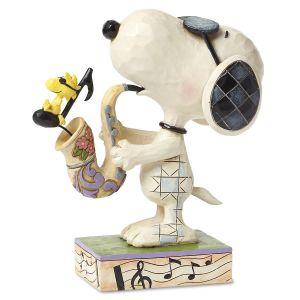 """Saxophone Snoopy """"Joe Cool"""" by Jim Shore"""