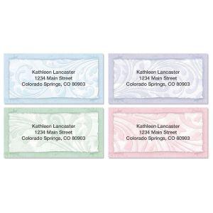 Scroll Border Address Labels  (4 Designs)