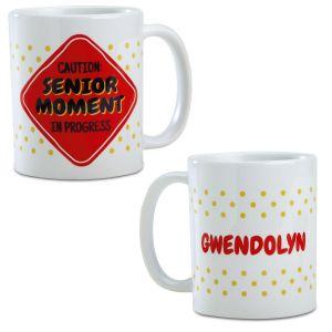 Senior Moments Personalized Mug