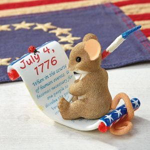 Sign On For Freedom Figurine by Charming Tails®
