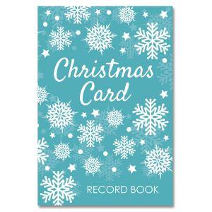 Snowflakes Christmas Card Record Book