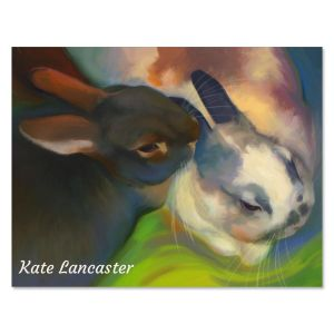 Snuggly Bunnies Personalized Note Cards