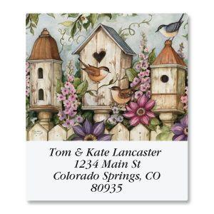 Spring Birdhouse Select Address Labels
