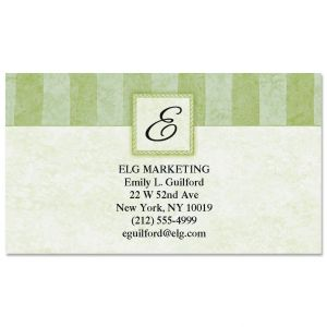 Tailored Elegance Initial Business Cards