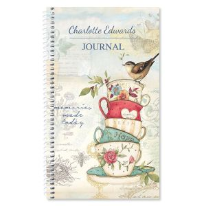 Teacup Personalized Journal