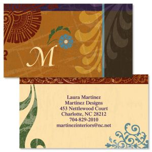 Textured Patterns Double-Sided Business Cards