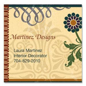 Textured Patterns Square Business Cards