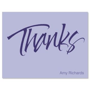 Thanks  Personalized Note Cards