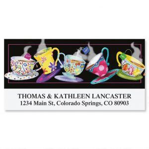 Tossing Teacups Deluxe Address Labels