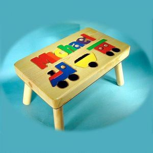Train Personalized  Puzzle Footstool