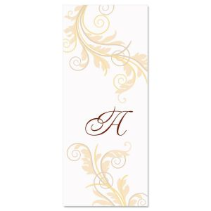 Tred Lightly Initial  Personalized Slimline Note Cards