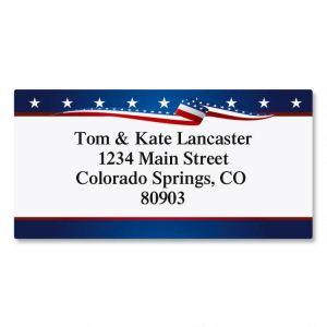 USA Proud Border Address Labels