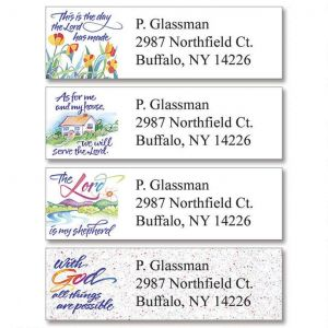 Verses of Virtue Classic Address Labels  (4 Designs)