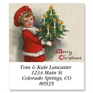 Victorian Christmas Select Address Labels