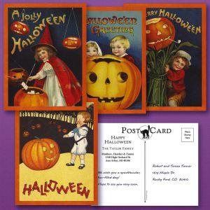 Victorian Halloween Postcards  (4 Designs)