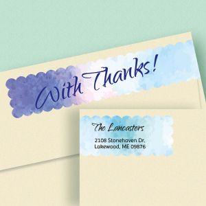 Watercolor Connect Wrap Diecut Address Labels  (4 Designs)