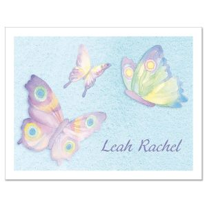 Watercolor Wings  Personalized  Note Cards