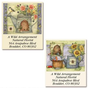 Watering Can Select Address Labels  (2 Designs)