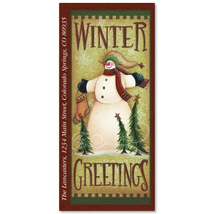 Winter Greetings Supersized Address Labels