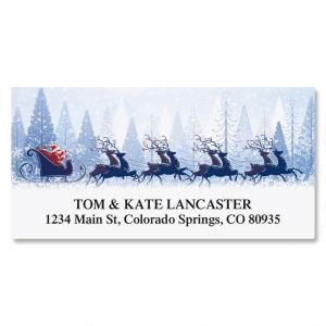Winter Sleigh Deluxe Address Labels