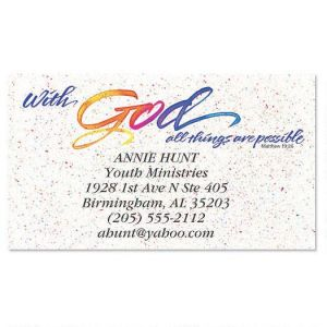 With God Business Cards
