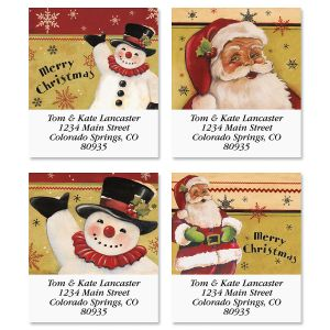 Traditional Christmas Select Return Address Labels (4 Designs)