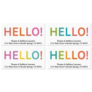 Hello Deluxe Return Address Labels (4 Designs)