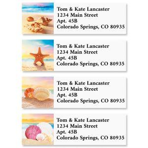 Seashell Beach Classic Return Address Labels (4 Designs)