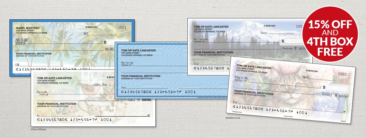 Address labels personal checks personalized gifts colorful images bank on savings with a new check design reheart Images