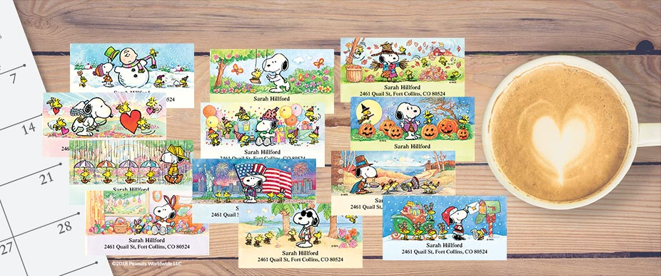 Shop PEANUTS® Labels at Colorful Images
