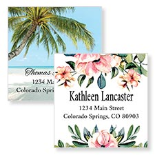 Shop Square Labels at Colorful Images