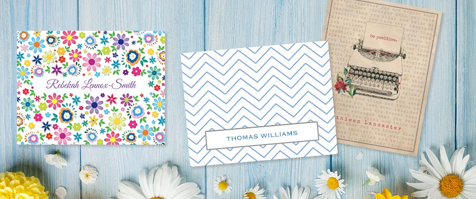 Shop Personalized Note Cards at Colorful Images