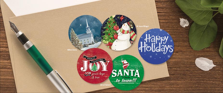 Shop Christmas Seals at Colorful Images