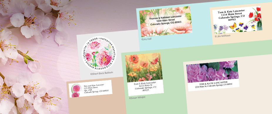 Shop Floral & Garden Labels at Colorful Images