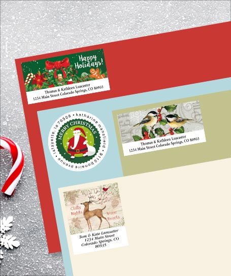 Shop Christmas Address Labels at Colorful Images